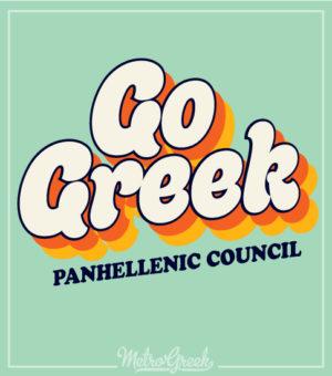 Go Greek Panhellenic Shirt Retro