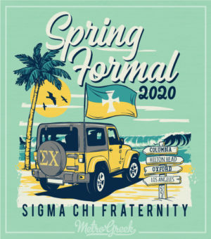 Sigma Chi Spring Formal Shirt Beach