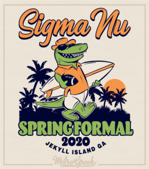 Sigma Nu Spring Formal Shirt Alligator