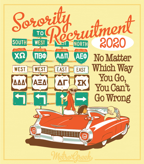 Panhellenic Sorority Recruitment Shirts Highway