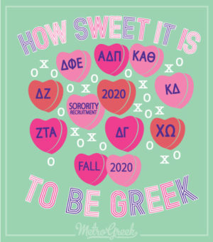 Panhellenic Sorority Recruitment Shirt Sweet