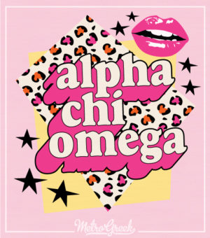 Alpha Chi Omega Sorority Shirt Leopard