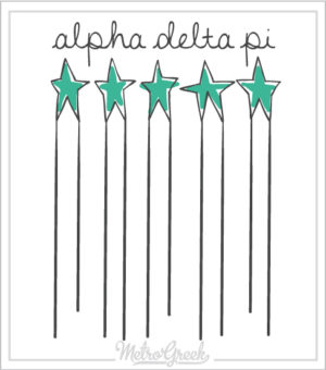 Alpha Delta Pi Bid Day Shirt Stars