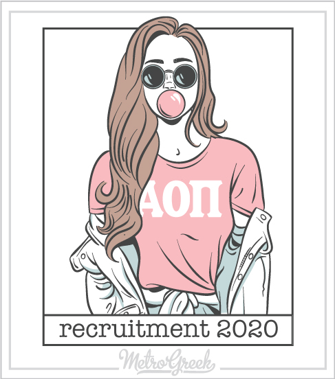 Alpha Omicron Pi Recruitment Shirt