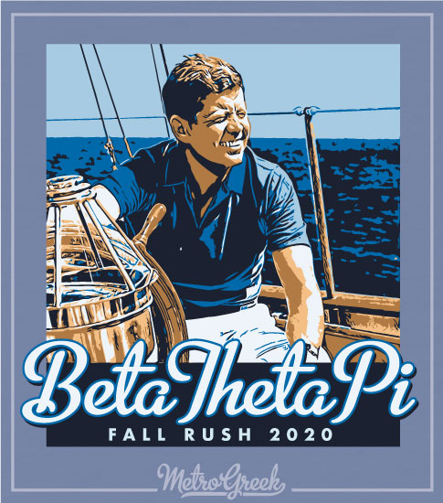 Beta Fraternity Rush Shirt Kennedy