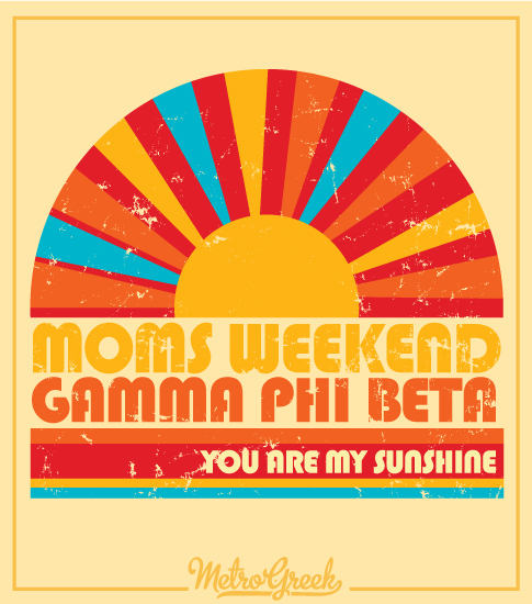 Gamma Phi Beta Moms Weekend Shirt