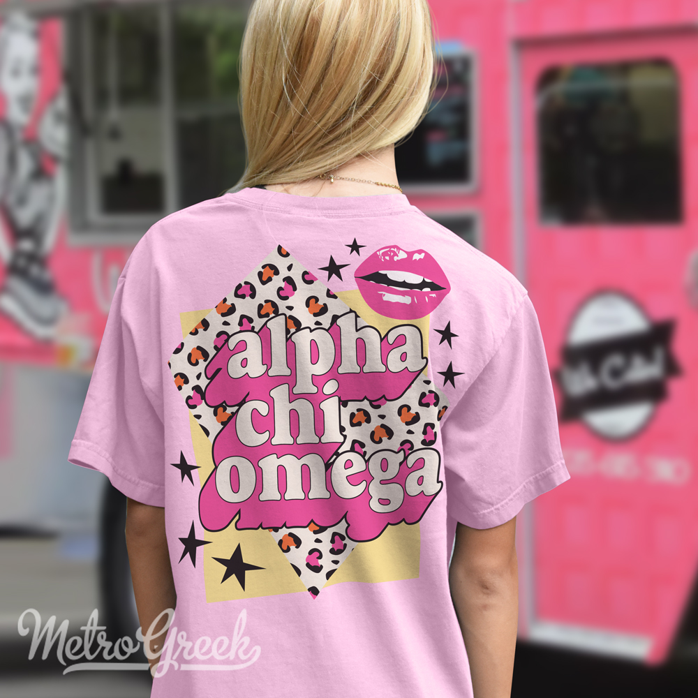 Alpha Chi Omega Bid Day Shirt Leopard
