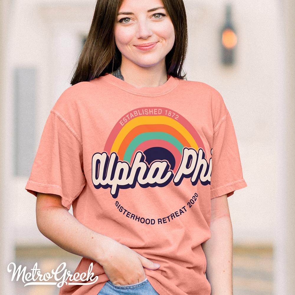 Alpha Phi Shirt Rainbow