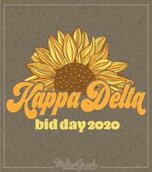 Bid Day Shirts Kappa Delta Sunflower