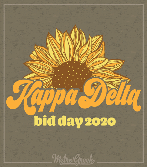Bid Day Shirts Kappa Delta Sunflower