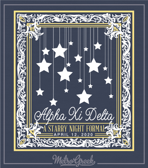 Starry Formal Shirts Alpha Xi Delta