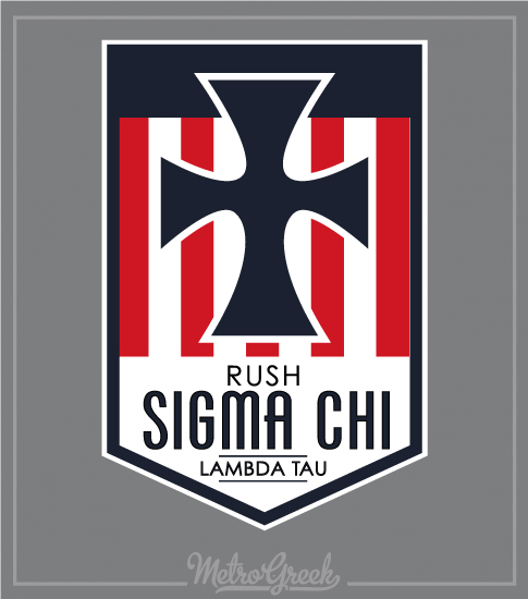 Fraternity Rush Shirt Sigma Chi Cross