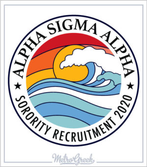 Sorority Recruitment Shirt Surf Logo
