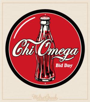 Chi Omega Bid Day Shirt - Cola