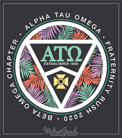 Fraternity Rush Shirt ATO Beach