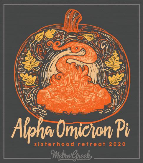 Alpha Omicron Pi Pumpkin T-shirt