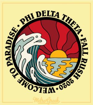 Phi Delta Rush Shirt Beach