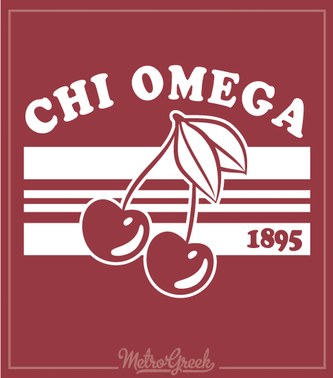 Chi Omega Cherry Bid Day Shirt