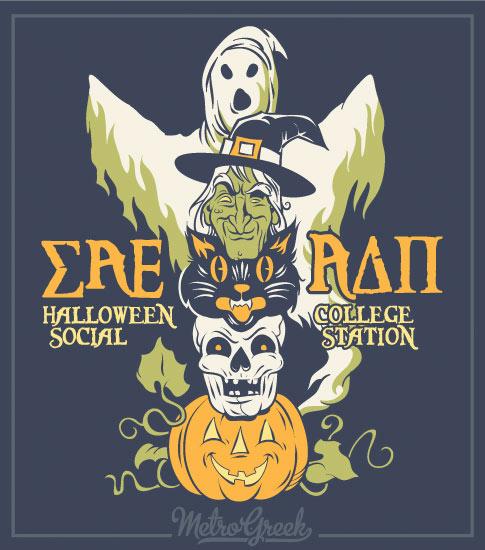 Halloween Shirt Ghost and Pumpkin