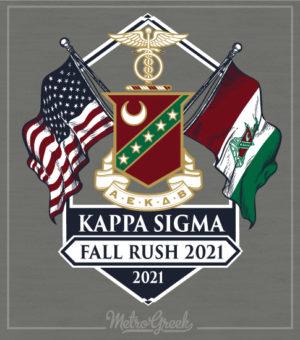 Kappa Sigma Fraternity Shirt Flags