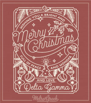 Christmas Shirt Ornate Sorority