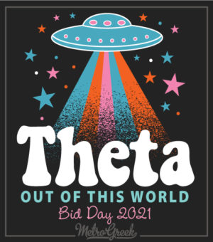 UFO Bid Day Shirt Theta