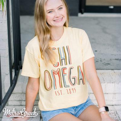 Chi Omega Sorority Spirit Shirt