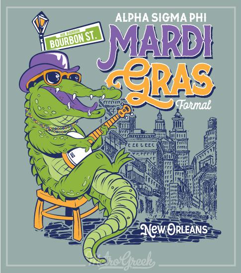 Mardi Gras Fraternity Formal Shirt