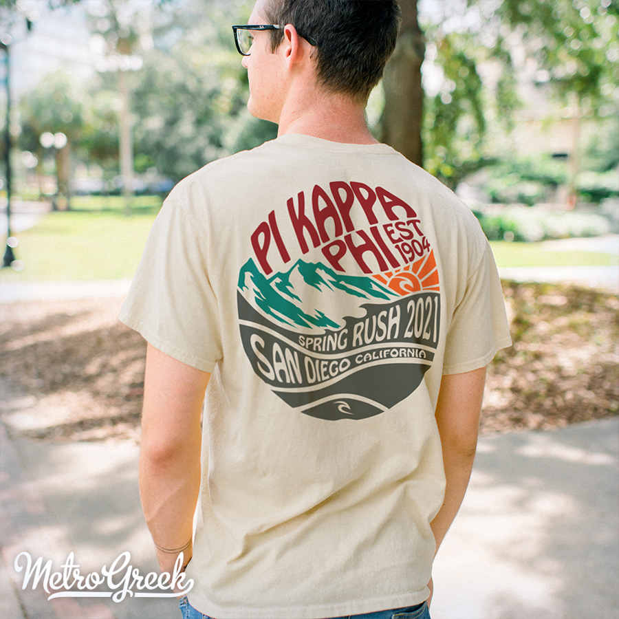 Pi Kappa Phi Fraternity Beach Rush Shirts