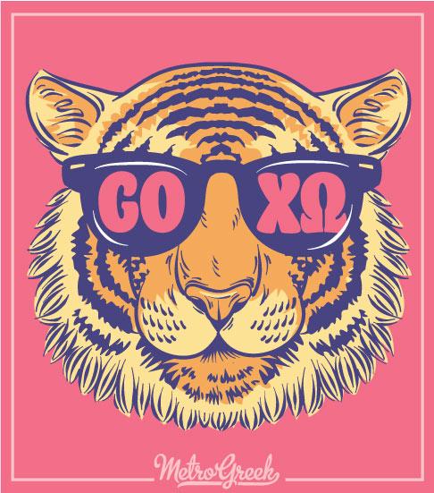 Chi Omega Tiger Recruitment Shirt
