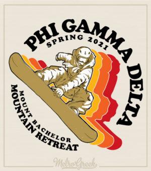 Fraternity Mountain Retreat Shirt Snowboard