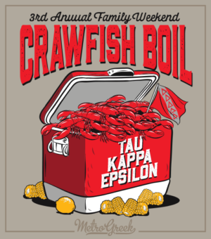 Crawfish Boil Shirt Tau Kappa Epsilon
