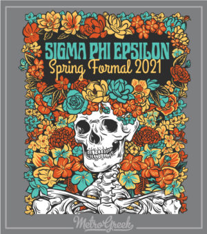 Fraternity Formal Shirt SigEp Skeleton