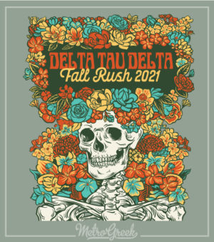 Fraternity Rush Shirt Delta Skeleton
