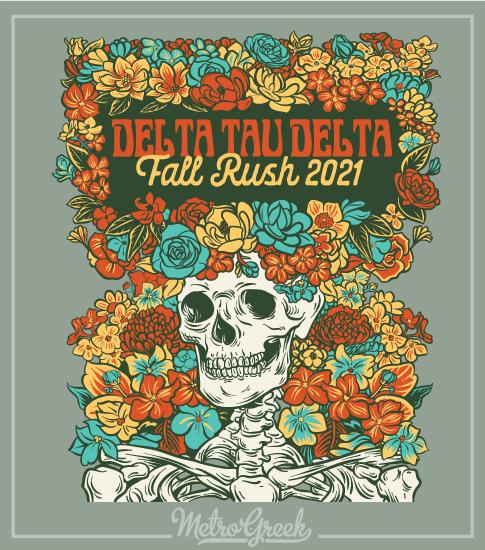 Fraternity Rush Shirt Delta Skeleton