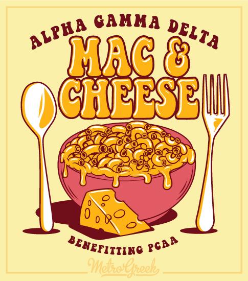 Mac and Cheese Shirt Alpha Gamma Delta