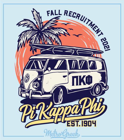 Pi Kapp Fraternity Rush Shirt Beach