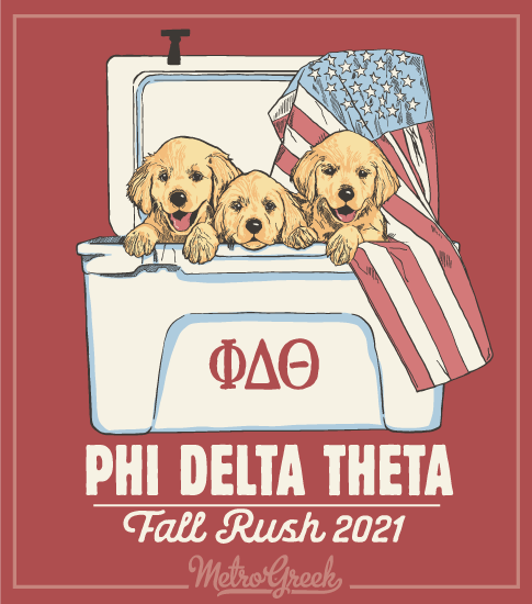 Fraternity Rush Shirt Puppy Cooler
