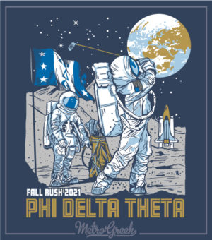 Phi Delt Rush Shirt Astronaut Golf