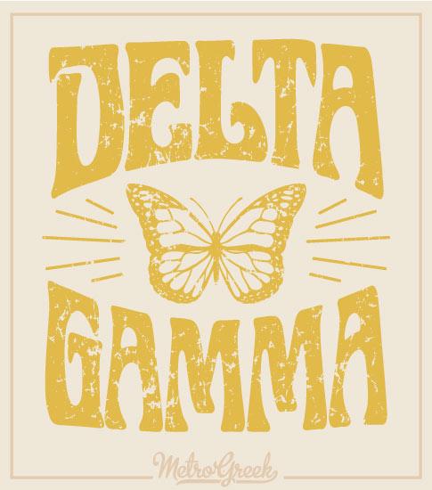 Sorority Shirt Delta Gamma Butterfly Shirt
