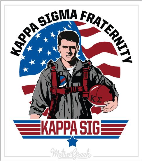 Fraternity Rush Shirt Kappa Sig Top Gun