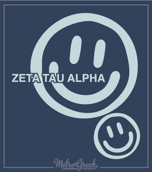 Sorority Shirts Smiley Face Zeta